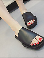 Women's Slippers & Flip-Flops Spring / Summer / Fall Slippers Cowhide Casual Flat Heel Others Black / White Others