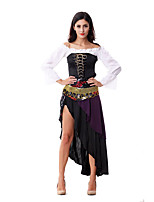 Costumes More Costumes Halloween White / Black Patchwork Terylene Dress / More Accessories