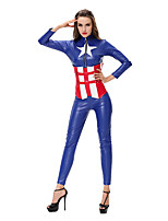Costumes Super Heroes Halloween Blue Print Terylene Leotard/Onesie / More Accessories