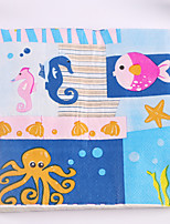 100% virgin pulp 20pcs Sea Animals Napkins