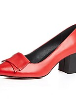 Women's Heels Spring / Summer / Fall / Winter Heels Leather Outdoor Chunky Heel Others Black / Red / Beige Others