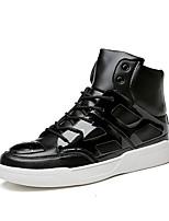 Men's Trainers Fashion Microfiber Medium cut Flats Board Shoes