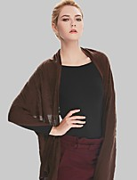 Women Acrylic ScarfCasual RectangleRed / BrownSolid