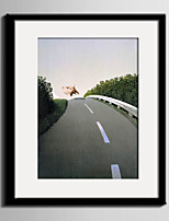 E-HOME® Framed Canvas Art, Pigs Running On The Road Framed Canvas Print One Pcs