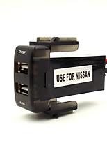voiture 5v chargeur d'interface 2.1a USB et entrée audio usb utilisation de socket pour nissan, qashqai, juke, tiida, almera, x-trail