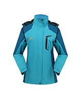 Hiking Softshell Jacket Unisex Thermal / Warm / Windproof / Wearable Winter Terylene Green / Blue / Purple / Fuchsia