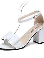 Розовый / Белый / Серый-Женский-На каждый день-Полиуретан-На толстом каблуке-Удобная обувь-Сандалии