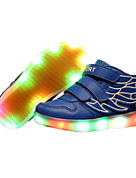 Girl's LED Shoes Sneakers Comfort / Flats Athletic / Casual / Magic Tape / wings / LED Blue / White