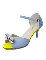 Women's Sandals Summer Sandals PU Outdoor Stiletto Heel Bowknot Blue / Purple / White Others