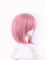 Fashion Women Hair Daily Wear Wigs Cheap Heat Resistant Synthetic Wig Short Pink Bobo Wig Cosplay