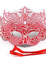 1pc un demi-motifs de masque de visage pour costume de halloween couleur aléatoire