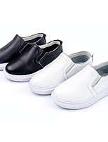 Unisex Sneakers Spring / Fall Flats Leather Outdoor Flat Heel Others Black / White Sneaker