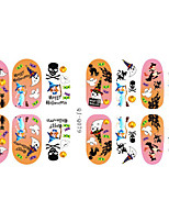 mode charmming Halloween gobelin noctilucent candy nail art autocollant gel autocollant manucure ongles