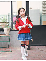 Girl's Going out Solid SkirtCotton Spring / Fall Blue