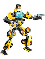 Building Blocks For Gift  Building Blocks Model & Building Toy Car / Robot Plastic Above 6 Black / Yellow Toys