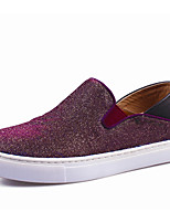 Women's Loafers & Slip-Ons Fall Comfort Glitter Casual Flat Heel Sparkling Glitter Purple Gray Others