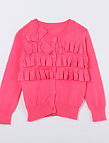 Girl's Casual/Daily Solid Sweater & CardiganCotton Fall Red