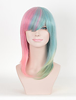 Fashion Straight Pink Multi-color Women Cospaly Synthetic Wigs