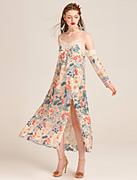 YIGELILA Women's Strap 3/4 Length Sleeve Maxi Dress-61928
