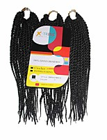 Senegal Twist Braids Black Color 1 Synthetic Hair Braids 12Inch Kanekalon 81 Strands 125g  Multipal Pack for Full Heads