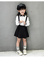 Girl's Casual/Daily Solid Clothing SetCotton / Rayon Spring / Fall Black