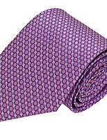 Cravate Vintage / Soirée / Travail / Décontracté Polyester,Homme Rayé,Rouge Toutes les Saisons