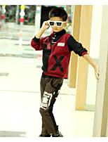 Мальчик Набор одежды,На каждый день,Однотонный,Хлопок,Весна / Осень,Зеленый / Красный / Бежевый