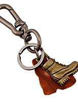 Key Chain / Key Chain Bronze Metal / PU Leather