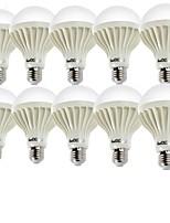 5W E26/E27 Lâmpada Redonda LED A60(A19) 9 SMD 5630 400 lm Branco Quente / Branco Frio Decorativa AC 220-240 V 10 pçs