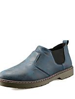 Men's Oxfords PU Office & Career / Casual Flat Heel Slip-on Black / Blue / Brown Walking EU39-43