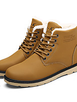 Men's Boots Fall / Winter Comfort / Round Toe / Closed Toe  Casual Flat Heel Lace-up Black / Blue / Khaki Walking