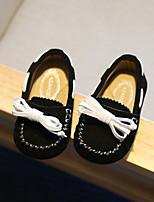 Черный / Синий / Хаки-Для мальчиков-Для прогулок-Замша-На плоской подошве-С закрытым носком-Мокасины и Свитер