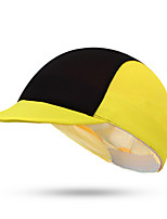 Cycling Cap Hat Bike Windproof Dust Proof Comfortable Sunscreen Unisex Yellow Terylene