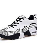 Черный / Красный / Белый-Мужской-На каждый день / Для занятий спортом-Полиуретан-На плоской подошве-Удобная обувь / С круглым носком-Кеды