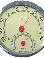 The New Th603A Stainless Steel Hygrometer High - Precision Silver - Red Indoor Indoors