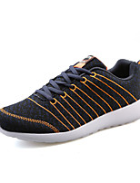 Men's Sneakers Spring / Fall Comfort / Round Toe Tulle Athletic / Casual Flat Heel Lace-up Black / Gray / Orange