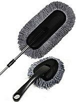 Two Pieces of Gray Wax Brush Set Car Cleaning Wax Drag Set Nano Wire Telescopic Wax Drag