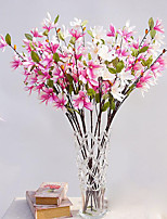 Hi-Q 1Pc Decorative Flower Magnolia Wedding Home Table Decoration Artificial Flowers