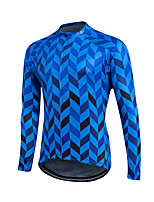 Sports® Cycling Jersey Men's Long Sleeve Breathable / Lightweight Materials / Back Pocket / Sweat-wicking / Comfortable Bike Jersey