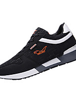 Men's Sneakers Spring Fall Comfort Fabric Athletic Flat Heel Lace-up Black Blue Coffee Running