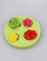 Baking tools silicone mold for rose shape fondant cake decoration chocolate mold candy fimo clay