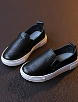 Unisex Loafers & Slip-Ons Comfort / Round Toe PU Casual Flat Heel Others Black / White Others