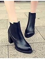 Women's Boots Fall PU Outdoor Chunky Heel Others Black Other