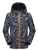 Hiking Softshell Jacket Men's Waterproof / Thermal / Warm / Windproof / Ultraviolet Resistant Spring / Fall/Autumn /