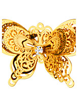 New Fashion Gifts Double Butterfly Brooch 18 K Real Gold Plated High Quality  For Girl Friend Gift X30014