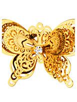 nova moda presentes dupla broche borboleta 18 k verdadeira banhado a ouro de alta qualidade para x30014 amigo presente da menina