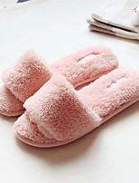 Women's Slippers & Flip-Flops Winter Slingback Fleece Casual Flat Heel Others Pink Others
