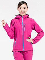 Hiking Softshell Jacket Unisex Windproof / Wearable / Sweat-wicking  / Winter TeryleneGray / Black / Purple / Fuchsia