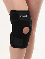 Men Black Synthetic Running Knee Brace