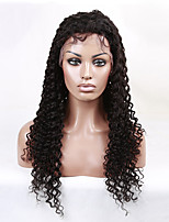 12-26 Inch Brazilian natural color virgin human hair curly wave full lace wigs human hair small curl medium brown wig